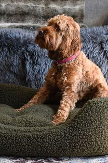 Rosewood Green Pile Fleece Bed