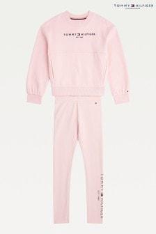 Tommy Hilfiger Pink Essential Legging Set