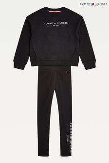 Tommy Hilfiger Black Essential Legging Set