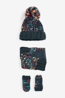 2 Piece Hat And Mitten Set (3mths-6yrs)