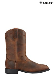 Ariat Brown Heritage Roper Western Boots