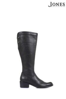 Jones Bootmaker Black Ladies Leather Knee High Boots