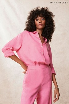 Mint Velvet Pink Linen Shirt