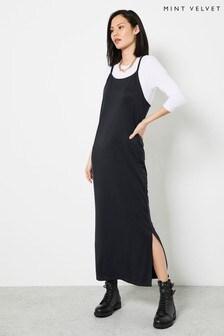 Mint Velvet Grey Jersey Slip Midi Dress