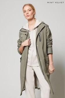 Mint Velvet Khaki Parka Trench Coat