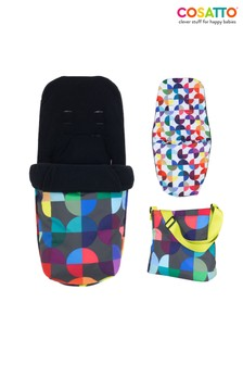 Cosatto Giggle Pushchair Footmuff and Changing Back Pack Kaleidoscope