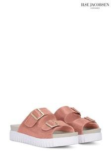 Ilse Jacobsen Hornbæk Slip-On Sandals In Soft Coral