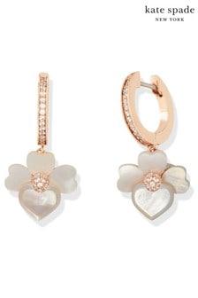 Kate Spade New York Precious Pansy Huggie Earrings