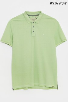 White Stuff Green Penmere Pique Polo