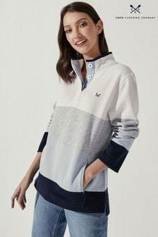Crew Clothing Company Natural Half Button Sweatshirt
