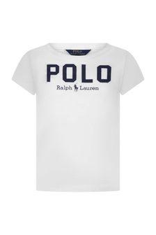 Ralph Lauren Kids Girls Cotton Polo Print T-Shirt