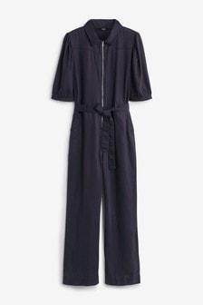 Zipped Boiler Suit