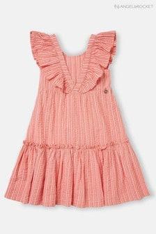 Angel & Rocket Stripe Ruffle Dress