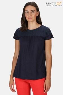 Regatta Blue Abitha Broderie T-Shirt