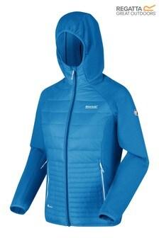 Regatta Blue Womens Andreson V Hybrid Baffle Jacket