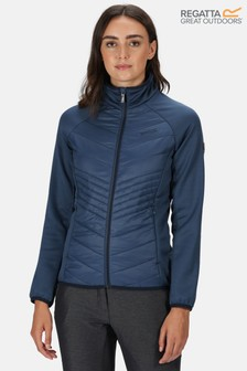 Regatta Blue Womens Clumber Hybrid Baffle Jacket