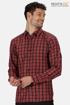 Regatta Grey Mindano Iii Long Sleeve Shirt