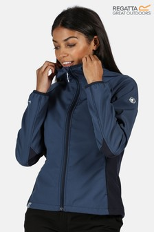 Regatta Blue Women's Arec Ii Full Zip Softshell Jacket