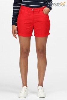 Regatta Red Pemma Cotton Shorts