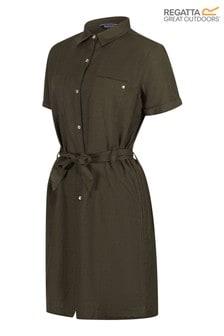Regatta Green Quinty Denim Look Tie Dress