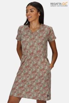 Regatta Green Havilah Cotton Printed Jersey Dress