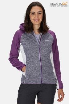 Regatta Purple Walbury Full Zip Hooded Fleece