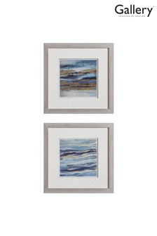 Set of 2 Gallery Direct Ocean Abstract Framed Wall Art