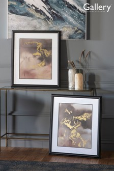Set of 2 Gallery Direct Contemporary Shimmer Framed Wall Art