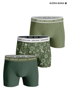 Bjorn Borg Green BB Wildflower Sammy Shorts 3 Pack