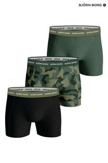 Bjorn Borg Green BB Nordic Camo Sammy Shorts 3 Pack