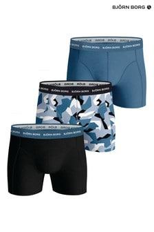 Bjorn Borg Blue BB Nordic Camo Sammy Shorts 3 Pack