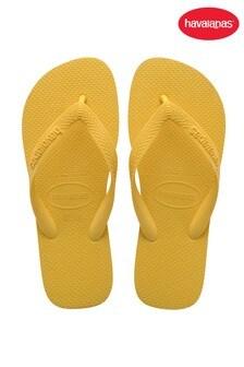 Havaianas Yellow Top Flip Flops