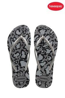 Havaianas Grey Slim Animals Flip Flops