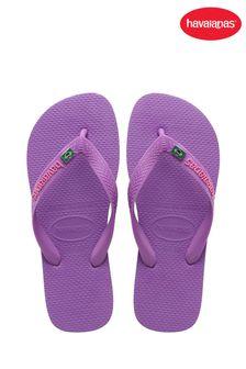 Havaianas Purple Brasil Layers Flip Flops