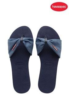 Havaianas Blue You St Tropez Shine Sandals