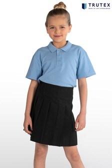 Trutex Black Junior Stitch Down Pleat Skirt
