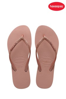 Havaianas Pink Kids Slim Glitter II Flip Flops