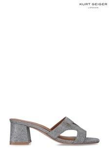 Kurt Geiger London Metallic Odina Block Sandals