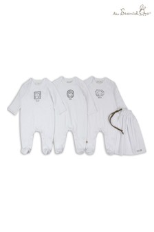 The Essential One 3 Pack Mono Animal Frames Sleepsuits