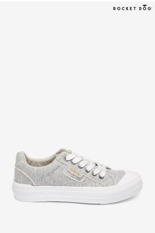 Rocket Dog Grey Cheery Skirball Summer Jersey Cotton Trainers
