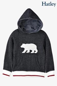 Hatley Grey Charcoal Bear Kids Heritage Pullover Hoodie