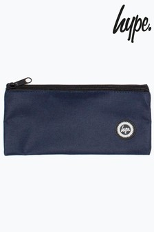 Hype. Navy Crest Flat Pencil Case