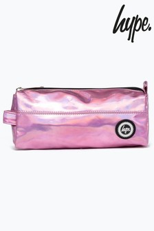 Hype. Pink Holographic Pencil Case
