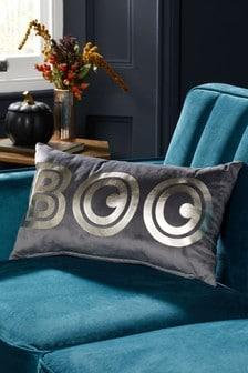 Grey Halloween Boo Cushion