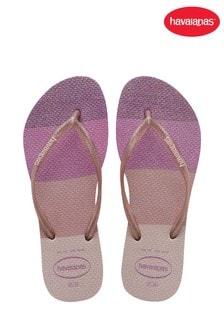 Havaianas Pink Slim Glow Flip Flops