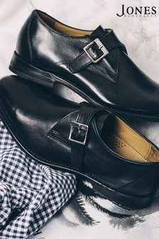 Jones Bootmaker Knoxx Leather Monk Shoes