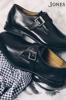 Jones Bootmaker Knoxx Leather Monk Shoes