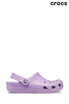 Crocs Pink Sugar Glitter Beach Shoes