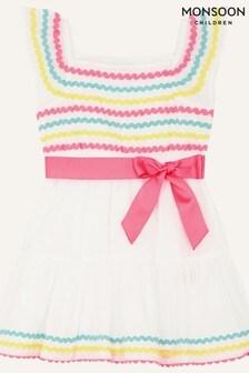 Monsoon White Baby Fiesta Ricrac Dress