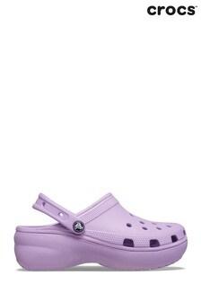 Crocs Pink Classic Platform Clogs